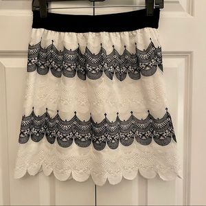 2 for $20 Pretty White and Black Lace Miniskirt